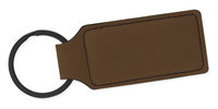 Leather Key Ring - Dark Brown