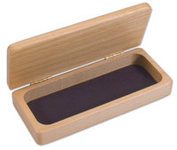 Maple Wood Jewelry Box With Velour Lining