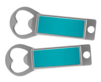 Metal Bottle Opener / Tab Opener Teal