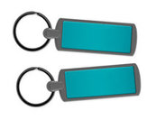 Metal Key Ring - Teal