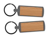 Metal Key Ring - Wood (Lot of 12)